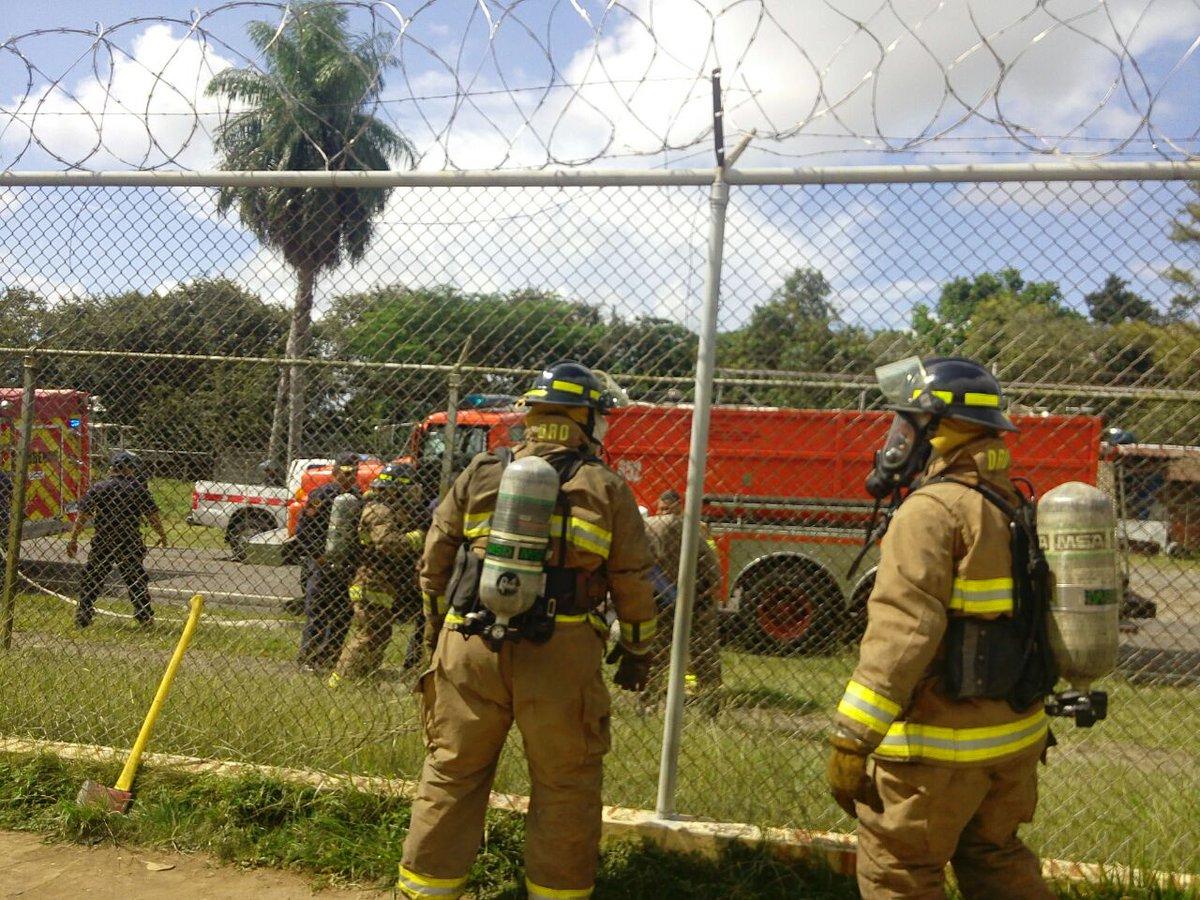 Se registra incendio en la Cárcel Pública de David