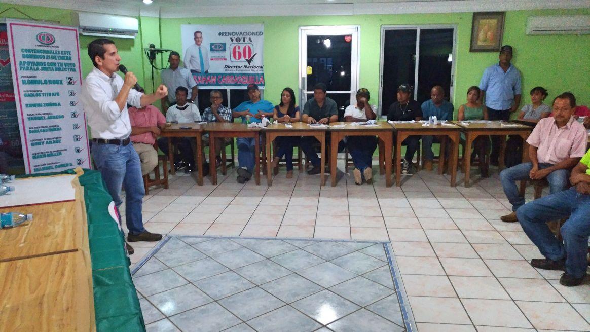 Cruce de acusaciones entre candidatos de CD en último día de campaña
