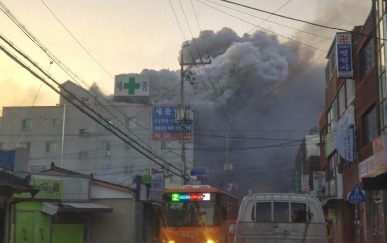 31 muertos en incendio en hospital en Corea del Sur